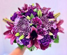 fall wedding bouquets with purple | 2013 Fall Wedding Flower Trends | The Blog Farm