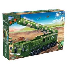 BanBao DF-31 langeafstandsraket voertuig 6202  De naam zegt het al: deze langeafstandsraket is een belangrijk wapen. Vuur raketten af vanuit een veilige afstand en versla zo je vijand! Inclusief 2 figuren en geweldige accessoires.  EUR 22.99  Meer informatie