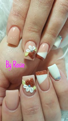 New set of acrylic nails with 3D by Rocio !