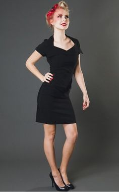 "Miss J and Black Dahlia Dress ""The perfect Little Black Dress!"" http://www.misswindyshop.com/mekot"