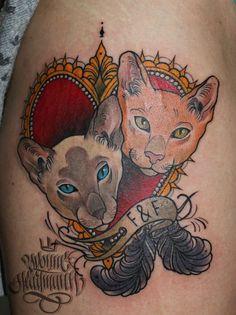 Portraits of my customers cats :) cuties!:) #cattattoo #cat #tattoo #oldschool #heart hearttattoo