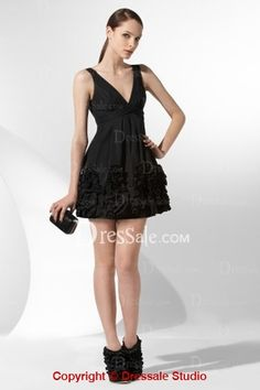 Pretty Short Cocktail Dress Features Real Ruffled Detail
