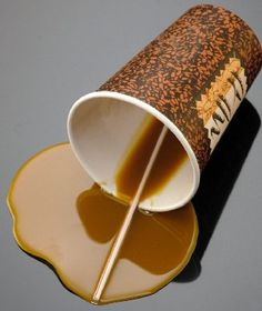 Coffee To Go Cup Spilled Fake Spills No Stains With This Spill