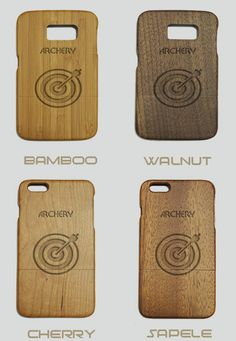 Archery Engraved Wood Phone Case