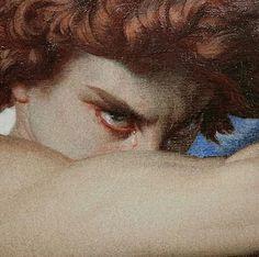 """""Lucifer after being expelled from heaven for rebelling against God"" Fallen Angel by Alexandre Cabanel"" Renaissance Kunst, Renaissance Paintings, Angel Aesthetic, Aesthetic Art, Rennaissance Art, Classical Art, Art Inspo, Art History, Cool Art"