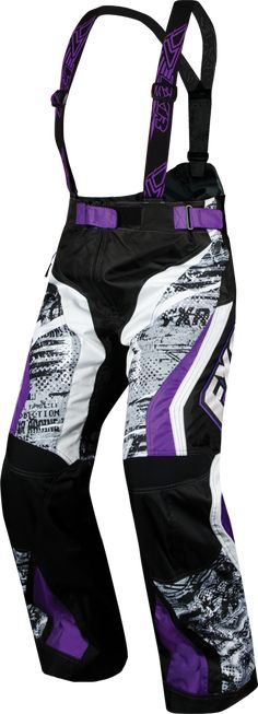 FXR Racing - Snowmobile Gear - Women's X-System Pant - Grey Warp/Purple