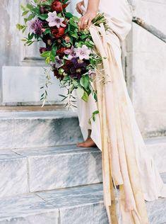 Enchanting Jewel-Toned Bridal Bouquet,