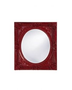 Bold Bathroom Mirror Monique Glossy Red