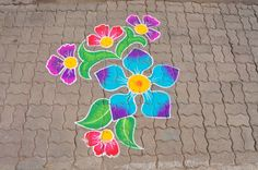 Indian Traditional Colorful Rangoli