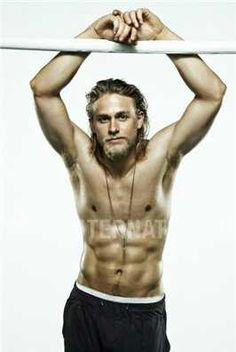Charlie Hunnam as Christian Grey. Tell me this man wouldn't look good with sweats hanging off his hips.. #drooling