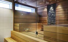 Tyylikäs lasiseinä saunaanLasiseinän avulla yhdistät saunan ja kylpyhuoneen. Laadukas Vihta-lasiseinä on saatavilla mittatilaustyönä. Lasin värivaihtoehdot:  kirkas, harmaa, pronssi, satiini ja musta. Smartia Oy www.smartia.fi