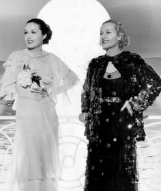 "summers-in-hollywood: "" Gail Patrick & Carole Lombard for My Man Godfrey…"