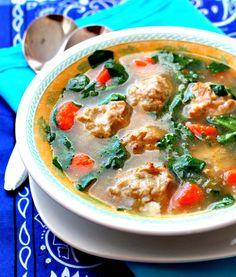Italian-Wedding-Soup Recipe - RecipeChart.com #Appetizer #Healthy
