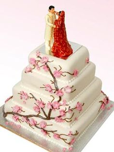 it would be a nice nod to dc :) Square four tier Indian theme Cherry Blossom wedding cake with pink Cherry Blossom decorative work. Funny Wedding Cakes, Indian Wedding Cakes, Square Wedding Cakes, Wedding Cake Designs, Cherry Blossom Cake, Cherry Blossom Wedding, Cherry Blossoms, 25th Wedding Anniversary Cakes, Anniversary Cake Designs