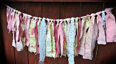 Shabby/Rustic fabric banners for baby showers, weddings, photo props, parties, shop decor, anyplace where you want to add a little beauty!!!  Each one is handmade and unique.Please message me details if you have a custom order! Vintage Shabby Chic Mixed Floral Fabric BannerA little over 3 fe...