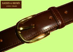 Bassin  Brown - Classic Brown Belt - Gold Gilt Buckle - Made In England. http://www.bassinandbrown.com/