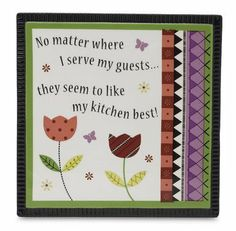 Groovy Garden by Pavilion 67154 6-Inch Trivet by Groovy Garden by Pavilion. $4.33. Saying no matter where i serve my guests?they seem to like my kitchen best!. Comes beautifully gift boxed. Functional trivet. Groovy garden by pavilion is a collection of fresh, whimsical gifts including picture frames, candle accessories, crackled glass, ceramic mugs and much more. Every hand-painted piece comes with a unique palette of vibrant colors and features fun floral designs, swee...