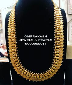 Check out some of the perfect bridal haram necklace for brides by the brand Om prakash jewels. Gold Temple Jewellery, Gold Wedding Jewelry, Gold Jewelry Simple, Antique Jewellery Designs, Gold Jewellery Design, Indian Bridal Jewelry Sets, Wedding Necklace Set, South India, Jewels