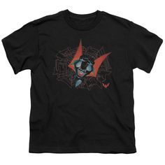 BATMAN BEYOND SWOOPING DOWN Youth Short Sleeve T-Shirt