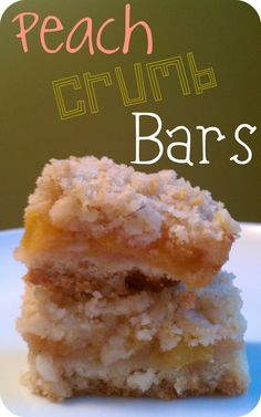 Life's Simple Measures: Peach Crumb Bars