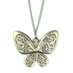 Lingstar(TM) Retro Classic vintage Bronze butterfly pendant necklace chain Generic http://smile.amazon.com/dp/B00FF3O6IO/ref=cm_sw_r_pi_dp_J9BStb1XW35C0Z6T