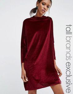 Daisy Street Tall   Свободное вельветовое цельнокройное платье-oversize Daisy Street Tall