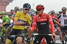 Will Chris Froome Win a Giro-Tour Double in 2018? Former Rival Alberto Contador Thinks So.  ||  The retired Spanish racer thinks Froome could win his first Giro d'Italia and his fifth Tour de France https://www.bicycling.com/racing/alberto-contador-chris-froome-giro-tour-double-2018?utm_campaign=crowdfire&utm_content=crowdfire&utm_medium=social&utm_source=pinterest