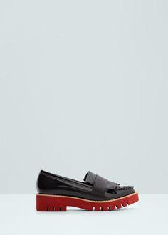 Sapato plataforma contraste