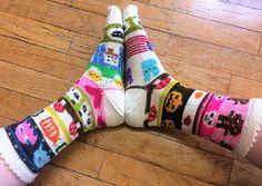 Ravelry: All Pix Mix Tape Socks pattern by Abigail Grasso Knitting Supplies, Knitting Projects, Knitting Ideas, Crochet Socks, Knit Crochet, Knit Socks, Knitting Socks, Hand Knitting, Knitting Patterns Free