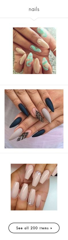 """nails"" by elisabeth-galfano ❤ liked on Polyvore featuring beauty products, nail care, nail treatments, nails, nail art, makeup, beauty, nail polish, esmalte and photos+"