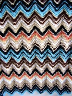 Missoni Inspired Crochet Baby Blanket - Perfect for the Stroller - Spring Cuddler Ready to Ship. $132,00, via Etsy.