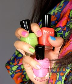 Zoya Tickled Collection, on my nails clockwise from my pinky: Kitridge, Tilda, Rooney, Wendy and Ling  #nailpolish #Zoya http://www.zoya.com