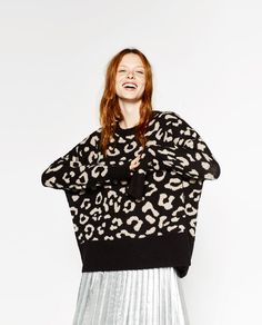 Image 2 of LEOPARD JACQUARD SWEATER from Zara
