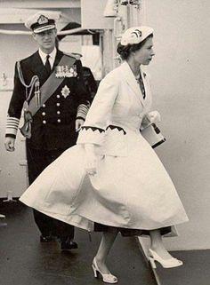 Queen Elizabeth II & The Duke of Edinburgh. She looks pissed! Die Queen, Hm The Queen, Royal Queen, Her Majesty The Queen, Princesa Real, Princesa Diana, Reine Victoria, Queen Victoria, New Look Coats