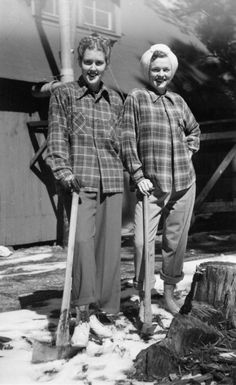 Lumber-ladies! My grandma cooked at a logging camp with 5 kids under 5 while her husband served in the military