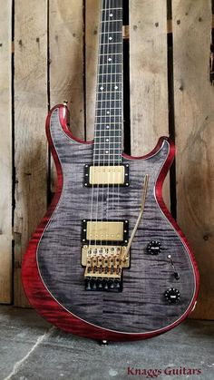 Knaggs Guitars   Severn X T2 Trembuck Single Purf in Onyx Burgundy w/Floyd