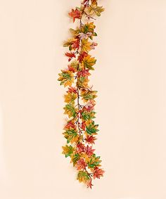 Loving this Gold Maple Leaf Garland - Set of Three on #zulily! #zulilyfinds