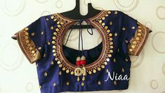 Hand Work Blouse Design, Simple Blouse Designs, Blouse Designs Silk, Stylish Blouse Design, Designer Blouse Patterns, Bridal Blouse Designs, Blouse Models, Blouse Styles, Clothes For Women