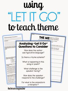 "The Brown-Bag Teacher: Reviewing Theme with Frozen's ""Let it Go"""
