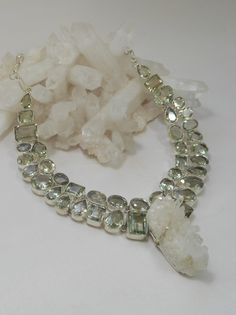 *Green Amethyst Artisan Gemstones Necklace 1