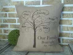 Hey, I found this really awesome Etsy listing at http://www.etsy.com/listing/121730526/family-tree-burlap-pillow-personalized