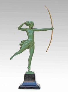 Max Le Verrier Statue atalante Art Deco Signed 1925 Demarc, Galerie Tramway, Proantic