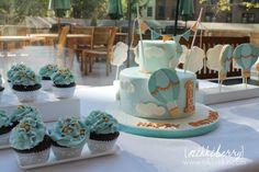 Hot Air Balloon Fondant Cake Set Decoration by nikkiikkin on Etsy