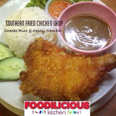 Esok we all dah cuti  Jom hari ni still boleh buka sama-sama di #foodiliciouskitchen  Try-lah our #delicious #crispy Southern Fried Chicken Chop combo Rice & Spicy Sambal  Served with Black Pepper Sauce and Free Flow Sirap   #homemade #goodfood  #recommended #confirmsedap  #jommakansini  #cadanganmakan  #affordable  #westernfood  #shahalam  Call 017-641 9945 or  Whatsapp 012-716 6300 #reservation #takeaway  #catering  Foodilicious Kitchen Food Court, Kompleks Anjung 7,Jalan Zirkon