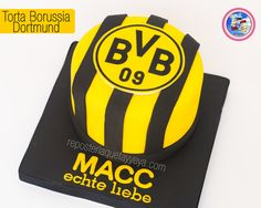 torta borussia dortmund - Borussia Dortmund cake