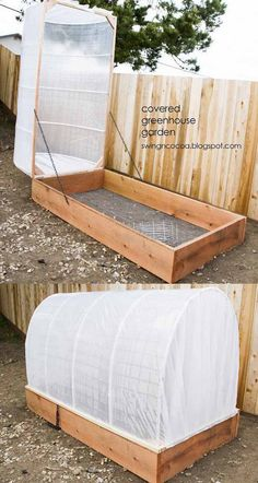 Greenhouse Plans 546835579756573597 - 45 BEST tutorials, free building plans & ideas on how to build easy DIY greenhouses, simple cold frames, garden tunnels & hoops with low cost materials! An ultimate guide! – A Piece of Rainbow Source by laurebatrice Veg Garden, Vegetable Garden Design, Lawn And Garden, Raised Garden Beds, Raised Beds, Backyard Greenhouse, Small Backyard Landscaping, Small Backyard Design, Simple Greenhouse