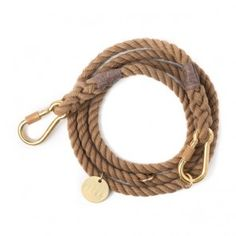 Found My Animal Adjustable Rope Leash Natural