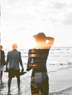Inspiration for new photoshop ideas Exposition Multiple, Double Exposition, Ligne D Horizon, Into The Wild, Multiple Exposure, Foto Art, Sunset Beach, Beach Riot, Summer Sunset