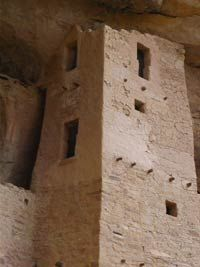 A cliff dwelling at Mesa Verde National Park in Colorado. If you go, book your tours with the rangers and drive yourself around. We found the bus tour slow and unnecessary.