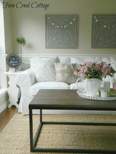 Ordinaire Fern Creek Cottage: Pretty In Pink~My Valentineu0027s Living Room Romantic  Living Room,